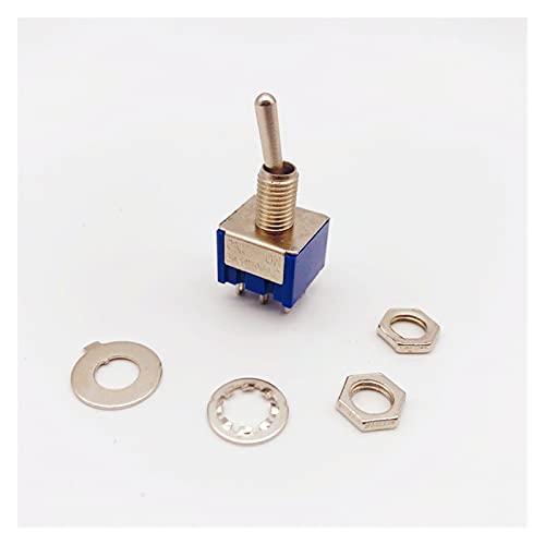 Interruptores Basculantes 1 UNIDS MTS-202/203 Interruptor de palanca azul claro DPDT Doble Polo doble Encendido / On-On-off-On 250V 3A 125V 6A Botón de interruptor de encendido Interruptor de accesori