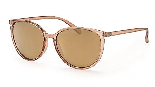 Filtral Vintage Sonnenbrille für Damen/Gold verspiegelte Cateye Sonnenbrille im transparenten Look F3024709