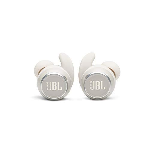 JBL Reflect Mini Auriculares Inalámbricos Deportivos In Ear con cancelación de ruido, resistente al agua IPX7 , Bluetooth y diseño ergonómico, color blanco