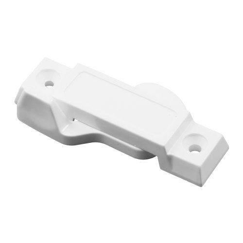 """Prime-Line F 2666 Sash Lock for Vertical and Horizontal Sliding Windows – Universal Window Sash Lock to Replace Broken Locks for Additional Home Security, 2-1/4"""" Mounting Hole Centers, White"""