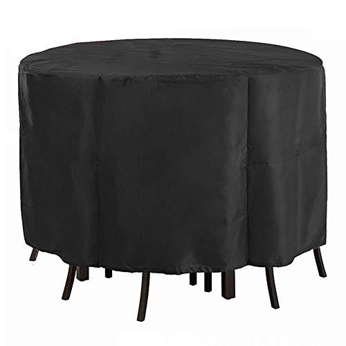 HuaXX Fundas para Muebles De Jardin Fundas Protectoras Muebles Jardin Mesa de Patio Cubre Impermeable Redonda Cubiertas de Mesa de Patio Impermeables 230 * 110cm