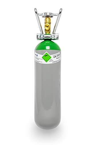 Argon 4.6 2 Liter Flasche/NEUE Gasflasche (Eigentumsflasche), gefüllt mit Argon 4.6 (Reinheit 99,996%) / 10 Jahre TÜV ab Herstelldatum/EU Zulassung/Schweißargon WIG,MIG