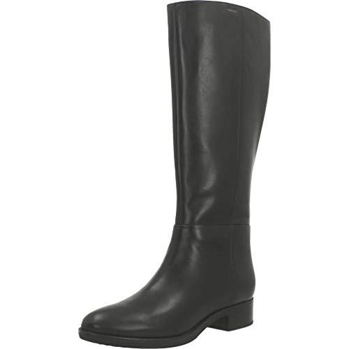 Geox Damen D FELICITY D Knee High Boot, Black, 37 EU
