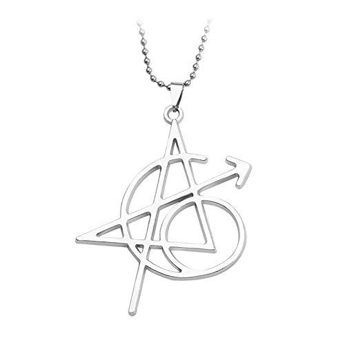 AdorabFruit Présent Pendentif Collar de la Collares Carta Suspensiones de Mujeres de los Hombres de joyería (Metal Color : XL1500)