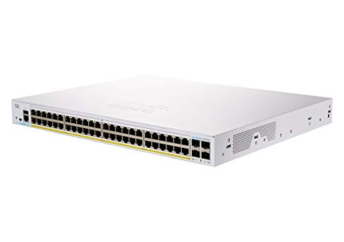Cisco Systems Business CBS350-48P-4X-EU Managed Switch | 48 GE-Ports | PoE | 4 x 10G-SFP+ | Begrenzter Lebenszeitschutz (CBS350-48P-4X)