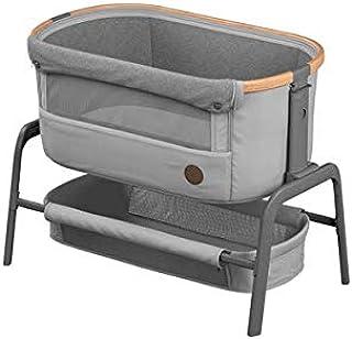 Maxi-Cosi Iora Beistellbett mit Easy-Slide-Funktion, geeignet ab der Geburt, 0 Monate - 9 kg, Essential Grey