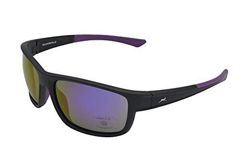 Gamswild WS7532 Sonnenbrille Sportbrille Skibrille Herren Damen Fahrradbrille Unisex | grau-transparent | grün-türkis | pink | grau-beige, Farbe: Pink cat.3