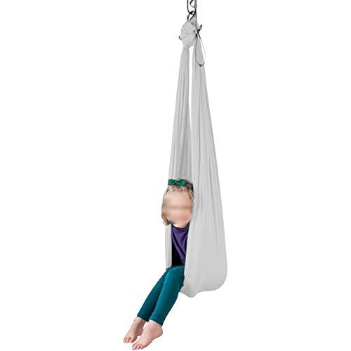 YXYH Columpio Colgar con Asiento Ajustable Y Antena para Yogaterapia Interior para Niños Y Adolescentes Hamaca con Necesidades Especiales (Color : White, Size : 100x280cm)