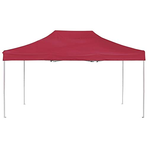 Tidyard Faltbar Profi-Partyzelt Sonnenschutz Zelt Pavillon 4,5 x 3 x 3,15 m aus Oxford-Gewebe mit PVC-Beschichtung schützt,Gartenpavillon Gartenzelt Mit klappbarem Design,Einfach zu tragen