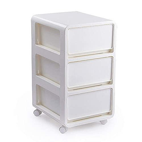 COLiJOL Armario de Muebles Caja de Alenamiento de Cajones Portátiles Caja de Alenamiento Caja de Alenamiento de Ropa de Gabinete de Acabado de Plástico de Juguete (Color: Blanco, Tamaño: 45.5X36X41.5