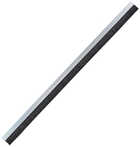 Delock Bürstenstreifen 40 mm mit Alu-Profil gerade - Länge 1 m