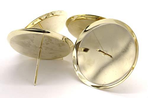 DARO DEKO Metall Kerzenhalter Ø 8cm Gold
