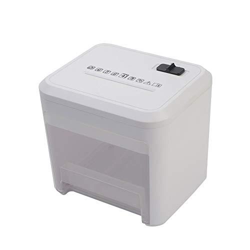 Xiaoxiao Shredder Desktop-Mini-Desktop-Home-Office Portable Datei Schredder papierschredder (Color : Black)