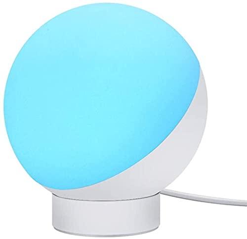 CMMT Lámpara de Mesa Lámpara de mesa de bajo consumo, sueño relajante, lámpara de control de voz junto a 5 niveles de luz ajustable lámpara de mesa de voz y esencia de orina cuidado de los ojos lectur