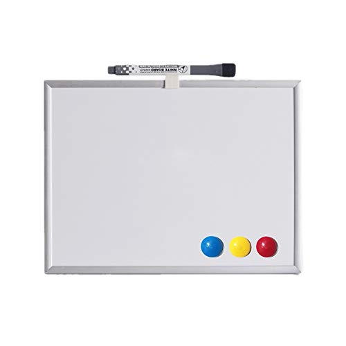 Luqifei Whiteboard Tragbare Mini-Desktop-Dry Erase Board Kleine White Board Kalender Planer Whiteboard Hinweis Memo Planer White Board (Color : AS Shown, Size : 25x35x0.9cm)