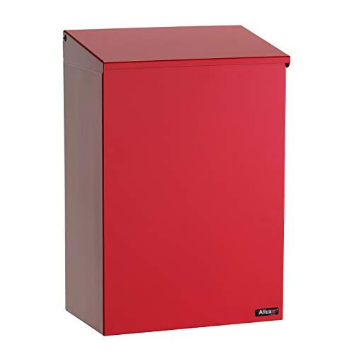 Allux 100 Postfach F54107 Briefkasten | Wasserdichte Abschließbare Sichere Paketkasten | 330 x 390 x 150 mm | Rot