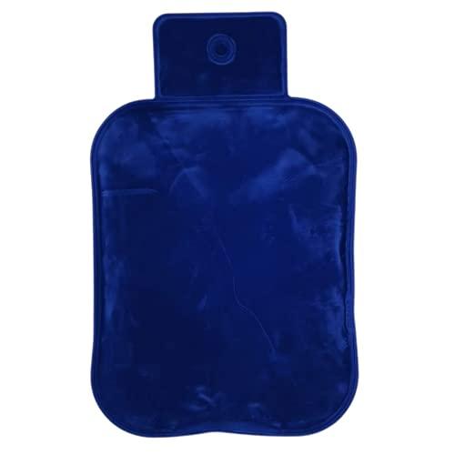 Moorwärmflasche Mikrowelle Moor-Gel-Wärme-Kissen Rücken-Nacken-Schulter-Wärme-Kissen - natürliche Wärmebehandlung mit Naturmoor-Gel - 18,5x28 cm - blau Qualitätsprodukt Velours-Bezug