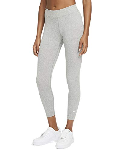 Nike Essential Mid Rise 7/8 Leggings Tights (S, Grey)