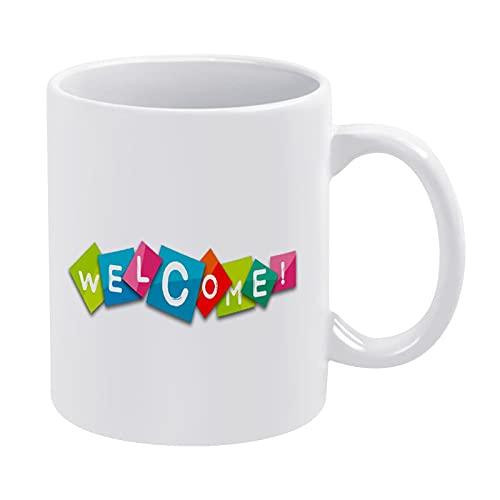 Weiße Kaffeetasse im Clipart-Stil, 425 ml, Keramik-Schokoladenbecher für Frauen, Chef, Freund, Mitarbeiter oder Ehepartner, Vatertagsgeschenke