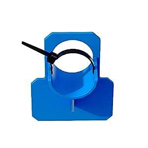 Justmysport Sporte para Mangueras de Piscina Azul Protección contra Torceduras Sporte de Tubo de 30 mm a 37 mm