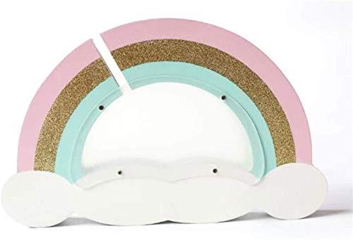 XHAEJ Hucha de Madera para decorationcoin Caja de Dinero para niña Sala de Arco Iris Nube Caja de Dinero (Color : Gold)