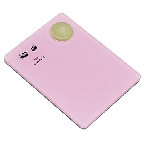 Beaupretty Eye Lash Extension Supplies EyeLash Stand Pallet Holder Decorated with Green Jade Eyelash Tray Stand Grafting Eyelash Extension Tool for False Lashes Eye Lash (Pink)