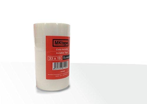 Mktape MK402140 - Pack 5 cintas adhesivas invisible, 33 m x 19 mm