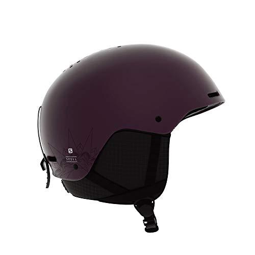 Casque de ski et snowboard pour femme Salomon, Coque ABS, Mousse intérieure EPS 4D, Taille M, Tour de tête 56-59 cm, Spell, Violet (Fig), L40539400