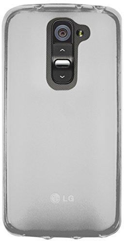 Phonix LGG2MGPW - Carcasa y película de protección para LG D620 G2 Mini, blanco transparente