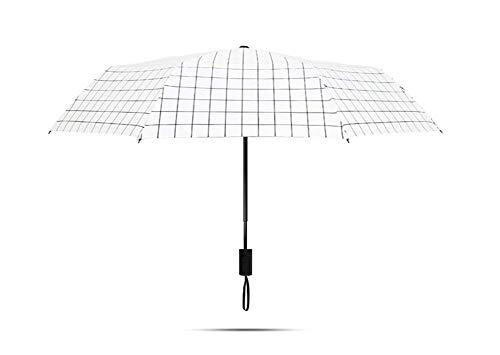 Paraguas plegable paraguas ligero mini paraguas plegable de viaje Paraguas pequeño pliegue de bolsillo de la capa doble paraguas protector solar Protección UV UPF 50+ lluvia resistente for hombres y m
