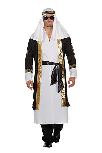 shoperama Arabischer Scheich Herren-Kostüm Araber Orient Sultan Ölscheich Öl-Prinz, Größe:60