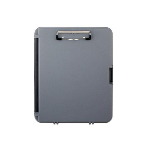 Saunders 00470 WorkMate, Klemmbrett auf Formularkassette, extra Halteklemme im Innenfach, seitlich öffnend, grau, Kunststoff
