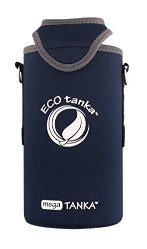 ECOtanka – megaTANKA KOOLER mit Trageriemen, blau, Neopren, universal, für: 1,5l und 2l Flaschen PET, Plastikflaschen, Champagner, Wein, Sekt