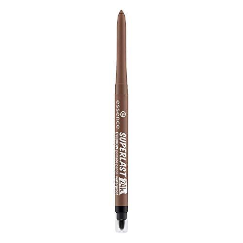 essence SUPERLAST 24h eyebrow pomade pencil waterproof, Nr. 20 brown, braun, vegan, wasserfest, Nanopartikel frei (0,31g)