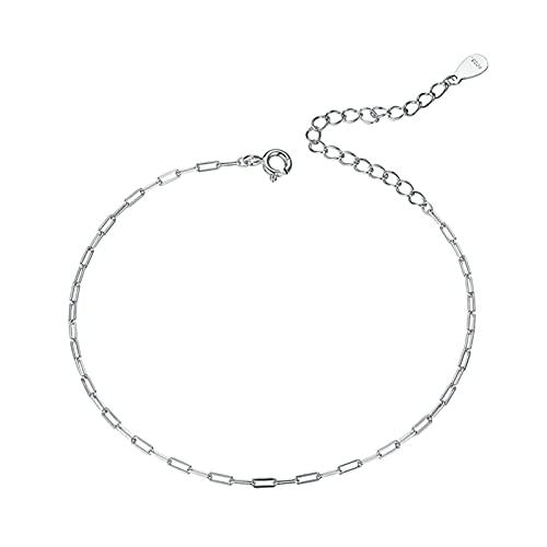 Bianlang Pulsera 925, Pulsera de Plata esterlina, Pulsera de Hueso de Serpiente Exquisita, joyería de Moda Exquisita para la Boda de Las Mujeres ( Gem Color : CQB221-A )
