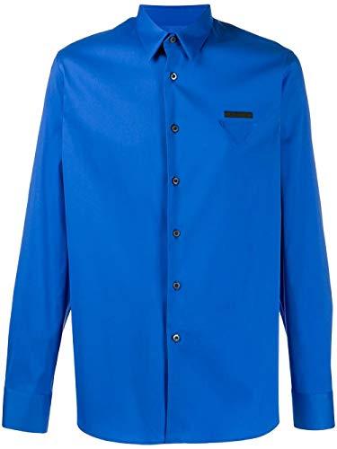 Prada Luxury Fashion Herren UCN259S201F62F0AGO Blau Baumwolle Hemd | Frühling Sommer 20