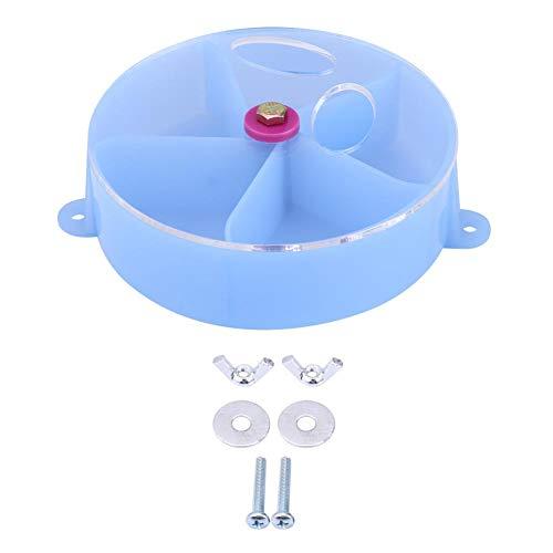Papagei Fütterungsbox Vogel Haustier Futter Futter Feeder Papagei Futter Rad Fütterung Aufbewahrungsbox Spielzeug(Blau)