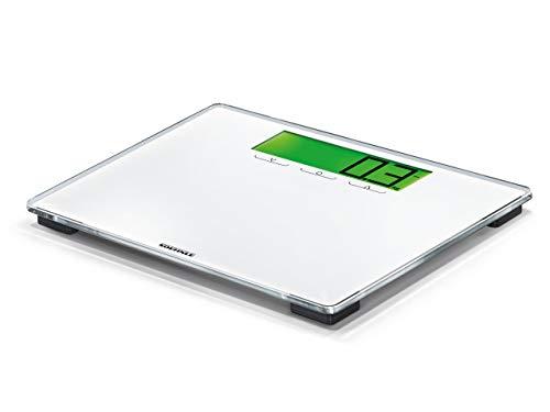 Soehnle Style Sense Multi 100, digitale Personenwaage, Gewicht bis zu 180 kg in 100 Gramm Schritten, Waage inkl. Batterien, Körperwaage mit wechselnden Farben bei Gewichtsreduktion und -zunahme