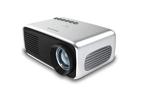 Philips NeoPix Start Mini-projector, draagbaar, professioneel, voor thuis/zakelijk – 60 inch 1080p FHD LED stereo luidspreker 650 lumen totale connectiviteit HDMI USB MicroSD (20 jaar levensduur)