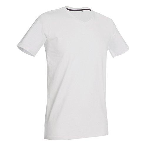 Stars By Stedman Clive - T-shirt à col V - Homme (2XL) (Blanc)