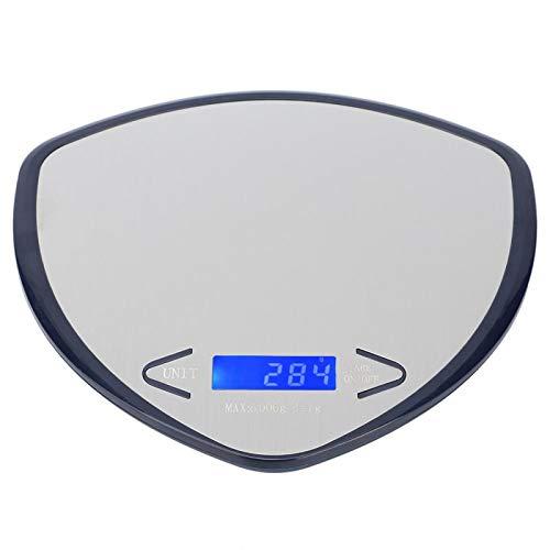 5Kg/1g LED portátil Mini báscula electrónica multifuncional para alimentos báscula digital de alta precisión para medir el peso en la cocina, cocinar y hornear(Azul)