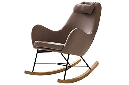SalesFever schommelstoel taupe textiel textiel, metaal, hout L = 70 x B = 100 x H = 99 taupe