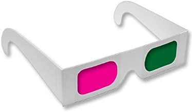 3D Glasses - Green/Magenta (3 PAIRS) - for Coraline, My Bloody Valentine, Journey to the Center of the Earth Home DVD