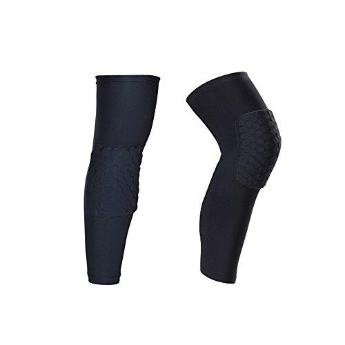 IULONEE Rodilleras Protectoras para Las piernas, 2 Paquetes Antideslizantes para Deportes de Voleibol, Baloncesto, Rodilleras, Coderas, Protectores de Compresión, Rodilleras Negro (X-Large)