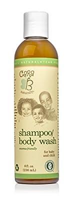 CARA B Naturally Baby Shampoo and Body Wash for Textured, Curly Hair - Eczema-Friendly Formula ? No Parabens, Sulfates, Phthalates - 8 Ounces