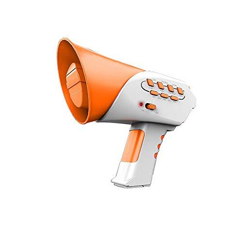 JIESD-Z Changer de Voix Amusant pour Enfants Mini convertisseur de Voix avec 7 Sons et 5 Jouets éducatifs musicaux, Plastique, Orange, Small