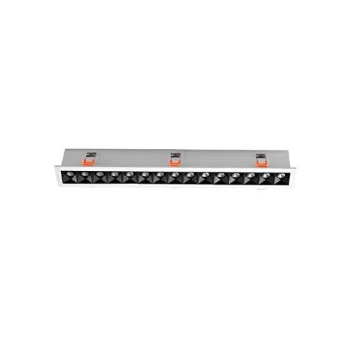 Focos LED Luces de tira lineales integradas Luces de tira Luces de línea de sala Luces en negrita Luces empotradas ocultas de varias cabezas (Color : 4000K-407mm)
