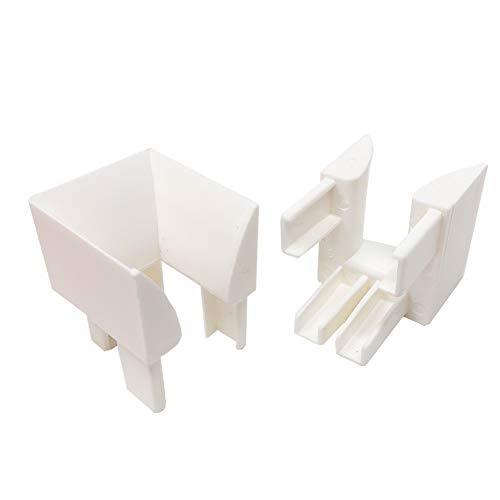 DIWARO.® Einlauftrichter für Rolladenführungen aus Kunststoff weiß, Preis pro Paar | Rollo, Rollade, Jalousie