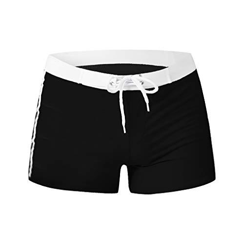 Yowablo Herren Shorts Badepants Sweatshorts Sport Shorts Trainingsshorts Kurze Jogginghose Boxer Shorts Kurze Hose Boxershorts Bermudas Sunbrief (XXL,3Schwarz)