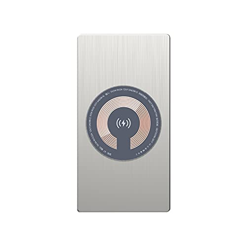 15W Fast Qi Trådlös laddare, 10000mAh Power Bank PD USB Poverbank Vattentät Powerbank, för iPhone 12/11,Silver